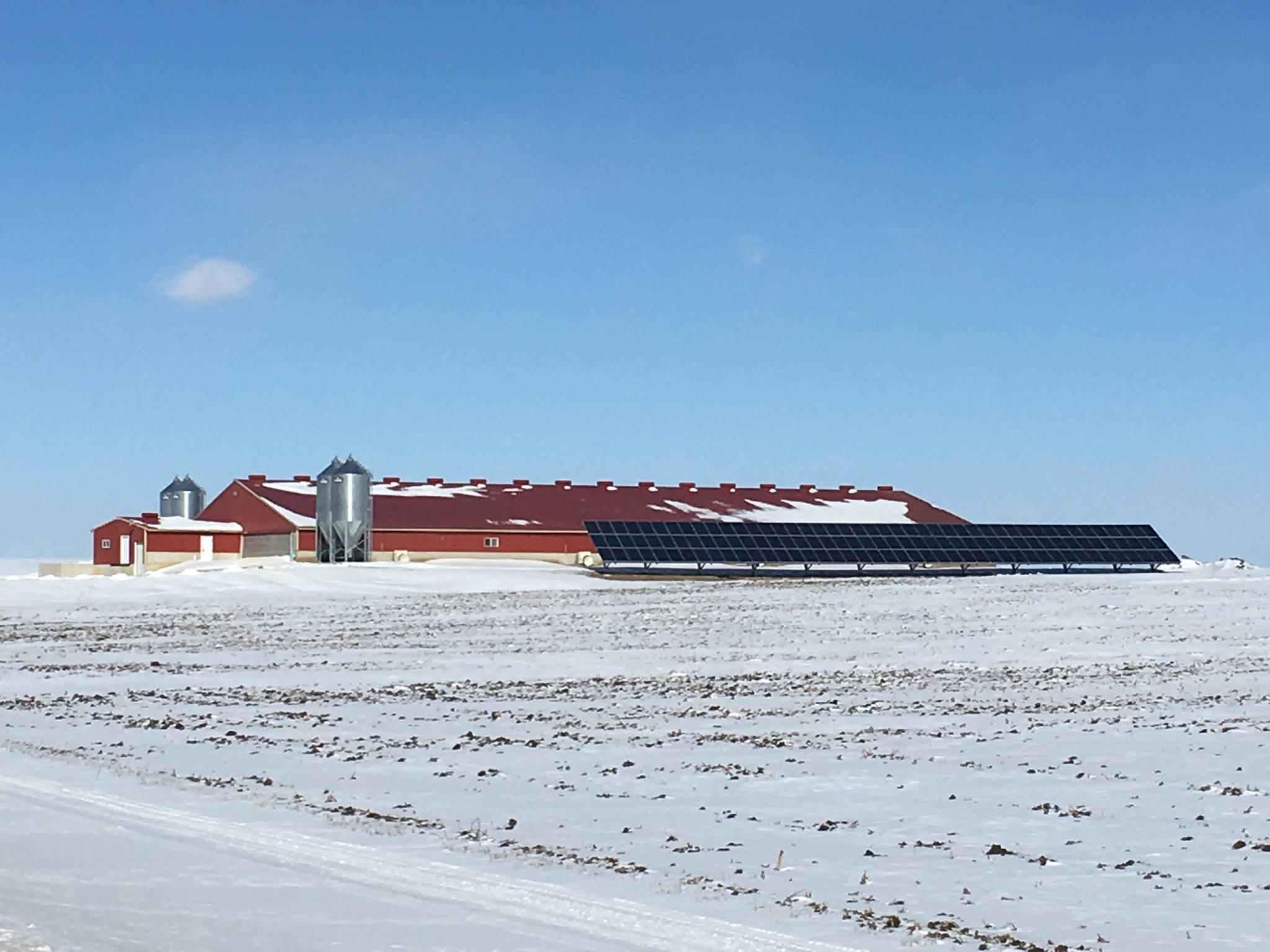 Solar installation in winter